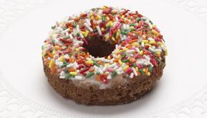 Chocolate Vanilla Glazed Doughnut Cake