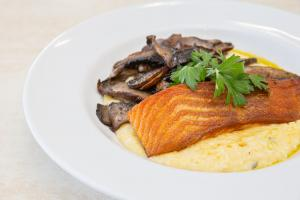 Pan Seared Salmon Polenta